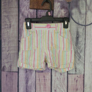 girls osh kosh striped shorts size 6 I38